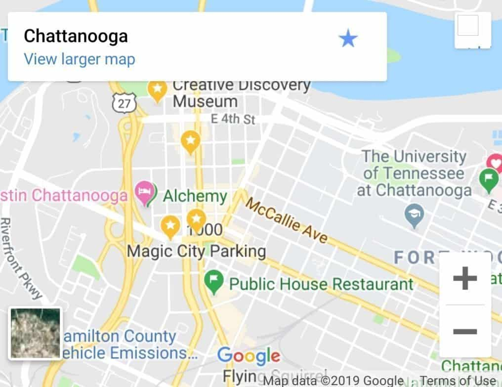 Chattanooga TN Map