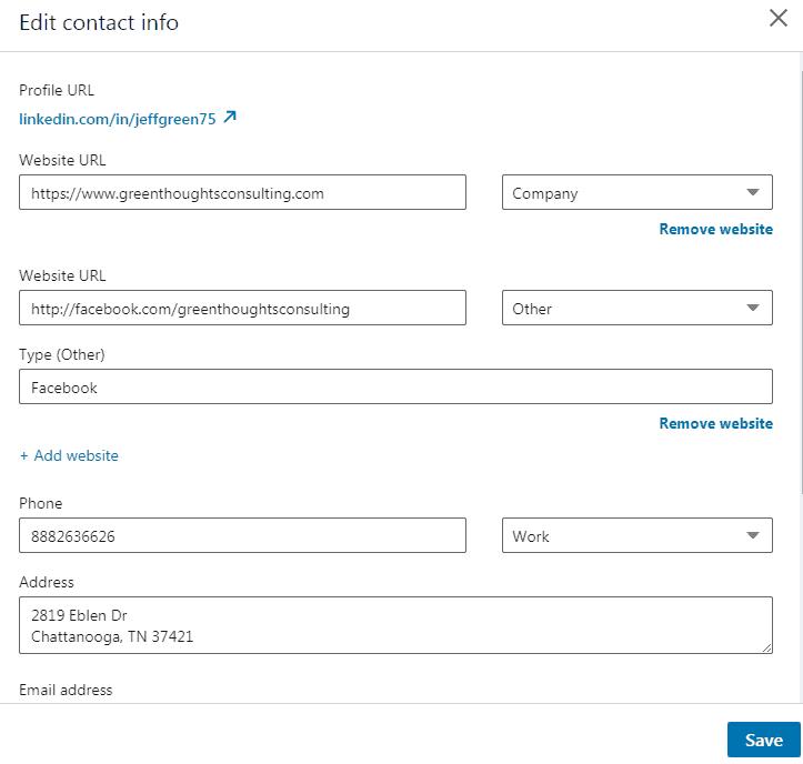 Linkedin Profile link