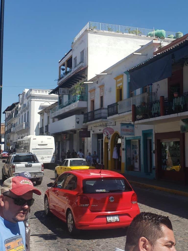 Puerto Vallarta street near Las Animas Dog Rescue